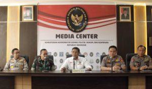 PRESS RELEASE PENJELASAN MENKO POLHUKAM WIRANTO KEPADA MEDIA TERKAIT SELESAINYA PERHITUNGAN SUARA NASIONAL PEMILU 2019