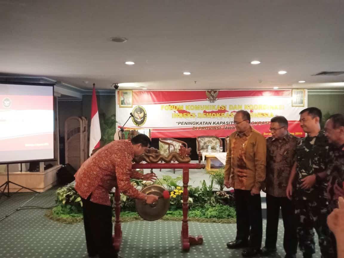 Kemenko Polhukam Beri Arahan & Apresiasi Indeks Demokrasi Indonesia di Jatim Meningkat